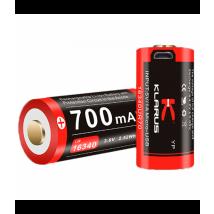 Batterie Rechargeable Via Micro-usb Pour Lampes Xt1c, Rs16 Et Mi1c 700 Mah - Klarus