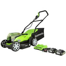 48V 36cm Lawnmower with Two 24v 2Ah Batteries & 2A Charger