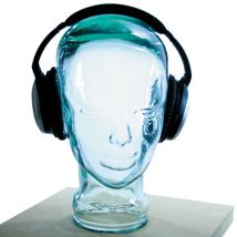 AMP3 Luxury Glass Head Headphones Stand Colour RED