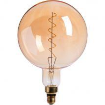 Alinea Ampoule Décorative Led Géante Ambre D20cm Culot E27