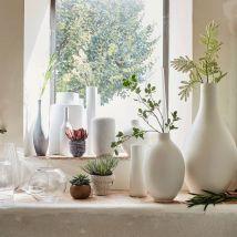 Alinea Vase En Céramique Blanc Ventoux D13xh40cm