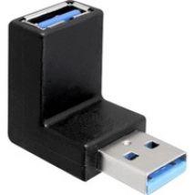 USB 3.0 Adapter Stecker/Buchse 90° gewinkelt