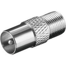 Adapter F-Kupplung auf Koaxial-Stecker