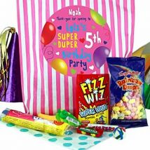Fabulous Personalised Girls Party Bags - Pink Stripes