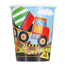 Construction Party Cups (Pack of 8)