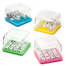 Mini Word Puzzle Games - 4 Small Word Toy Games for kids. Dimensions: 5cm x 5cm.