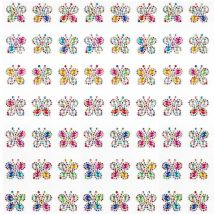 Rainbow Butterfly Self-Adhesive Acrylic Gems (Pack of 20)