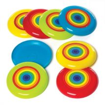 Rainbow Flying Discs (Pack of 8)
