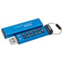 Kingston Data Traveler 2000 32GB Encrypted USB 3.0 Flash Drive with Keypad, Blue