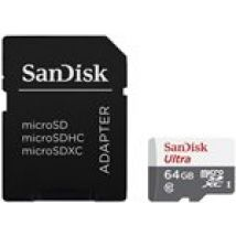 SanDisk 64 GB Class 10 Ultra Android MicroSDHC Memory Card and SD Adapter