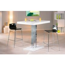 Table bar Palazzi Blanc/chrome - 110 x 120 x 80cm - Basika