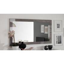 Miroir Greta laqué blanc/béton Béton laqué - Basika