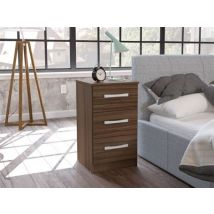 Lynx 3 Drawer Bedside Assorted Colours