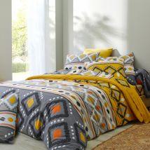 Linge de lit Minca - coton - Jaune - Coton - Blancheporte