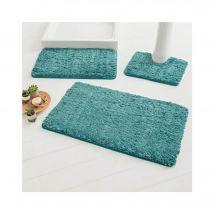 Tapis de bain uni moelleux microfibre - Tapis De Bain : 50x80cm - Turquoise - Blancheporte