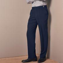 Pantalon taille réglable sans pince - polyester - Bleu - T58 - Polyester - Blancheporte