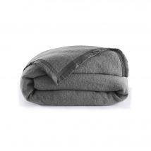 Couverture laine 1er prix 350g/m2 - Couverture2 Pers : 220x240 Cm - Gris - Blancheporte