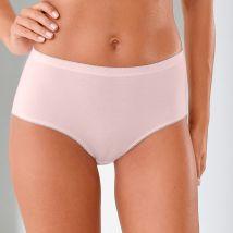 Culotte maxi basique - lot de 3 - Kaki/rose - T42/44 - Coton/elasthanne - Blancheporte