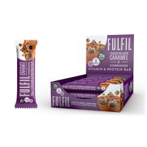 Vitamin and Protein Bar - 12 Bars- Chocolate Caramel Cookie Dough Bodybuilding Warehouse Fulfil