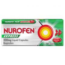 Nurofen Express Liquid Capsules 10 Pack 200mg