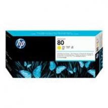 HP 80 Yellow Printhead and Printhead Cleaner