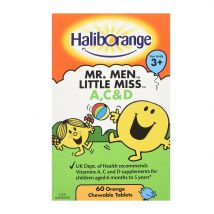 Haliborange Vitamins A C & D Orange Flavour 60 Tablets