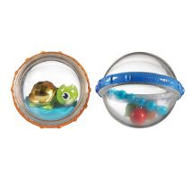 Munchkin Bath Float and Play Bubble Balls 2 Pack Turtle