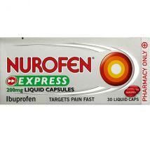 Nurofen Express Ibuprofen 200mg 30 Liquid Capsules