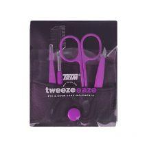 TRIM Tweezeeaze Eye & Brow Care Travel Set - Purple