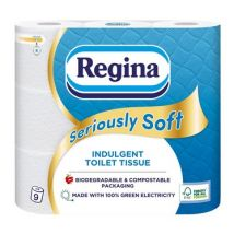 9 Pack Seriously Soft White 3 Ply Toilet Tissue