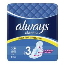 Always Classic Night Sanitary Towels 8 Pack