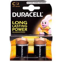 2 Pack Duracell C Size Alkaline Battery