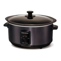Morphy Richards Accents 3.5Ltr Black Sear And Stew Slow Cooker