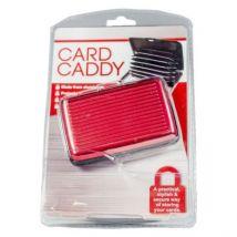 Aluminium Card Wallet Case - Red
