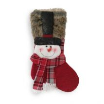 Snowman Red Christmas Stocking 20 Inch