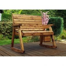 Charles Taylor Rocker Garden Chair - Burgundy Cushions