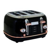 Bentley 4 Slice Toaster Black & Rose Gold