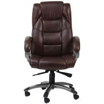 Alphason Northland Brown Leather Office Chair - AOC6332-L-BR