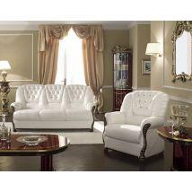 Camel Luxor Italian Leather 3+1+1 Seater Sofa