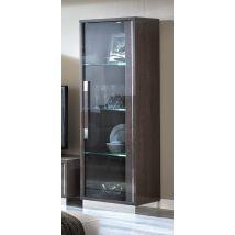 Camel Platinum Slim Italian Glass Cabinet