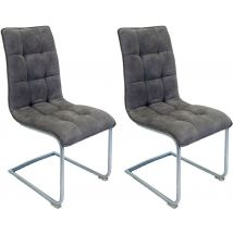 Nova Stone Fabric Dining Chair (Pair)