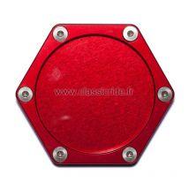 Support assurance moto hexagonal Mad, Rouge
