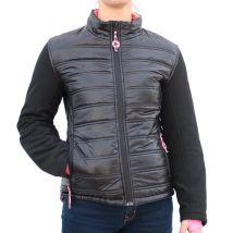 Veste femme Harisson Hybrid Lady noir rose - M