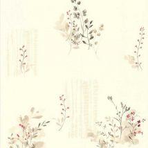 Papel pintado LUTECE estampado flores campestres