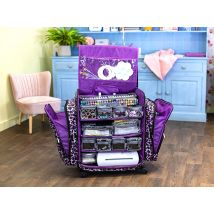 Crafters Companion Portable Craft Room - Purple Cheetah - Limited Stock