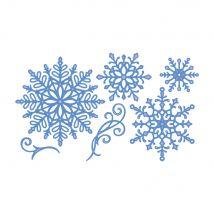 Sara Signature Glittering Snowflakes Metal Die - Snowflake Flurry