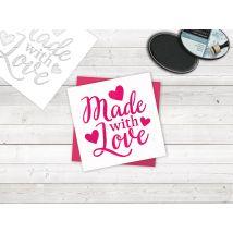 Sara Signature Crafty Fun Stencil - Made with Love
