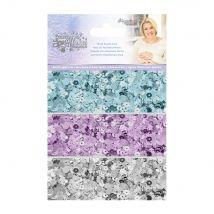 Sara Signature Glittering Snowflakes Mixed Sequin Pack
