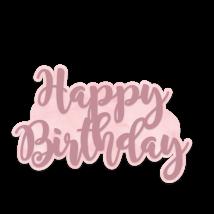 Sara Signature Rose Gold Metal Die - Happy Birthday