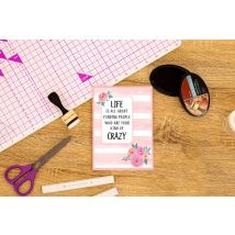 Crafters Companion Clear Acrylic Stamp - Your Kind of Crazy